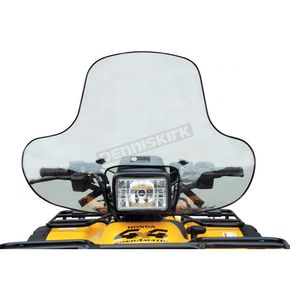 CMP Pro Quad 16 in. Quick-Release Windshield w/Headlight Cutout - 0286