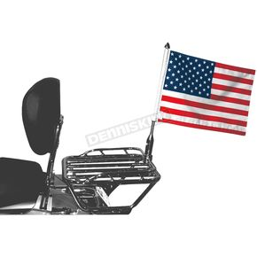 Pro Pad 13 in. Tall Folding Flag Mount w/10 in. x 15 in. Flag - RFM-FLD15