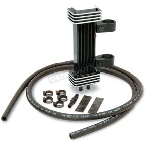 Jagg Black Deluxe Vertical Mount Oil Cooler - 1000