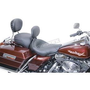 Mustang Seats 16 1/2 in. Wide Studded Solo Seat w/Removable Backrest - 79338