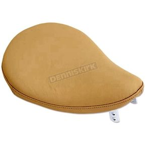 Drag Specialties Tan 10 in. Wide Small Leather Spring Solo Seat - 0806-0008