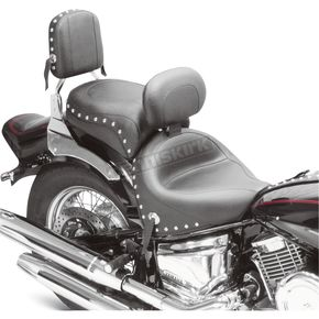 Mustang Seats Studded Wide Touring Seat with Driver Backrest - 79220