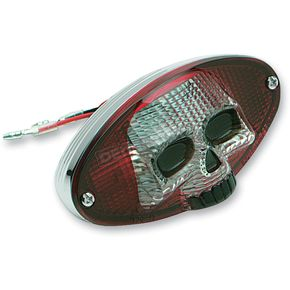 Drag Specialties 3-D Skull Taillight - 0902-1242