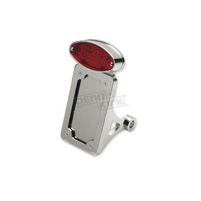 Drag Specialties Side Mount Cat-Eye Mount LED Taillight/License Plate Mount-Flat Vertical - 0906-6043