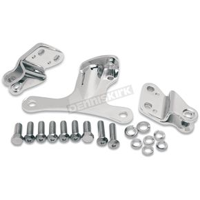 Drag Specialties Chrome Motor Mount Kit - 0933-0012