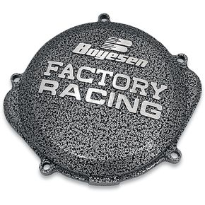 Boyesen Factory Racing Black/Silver Clutch Cover - CC-38A