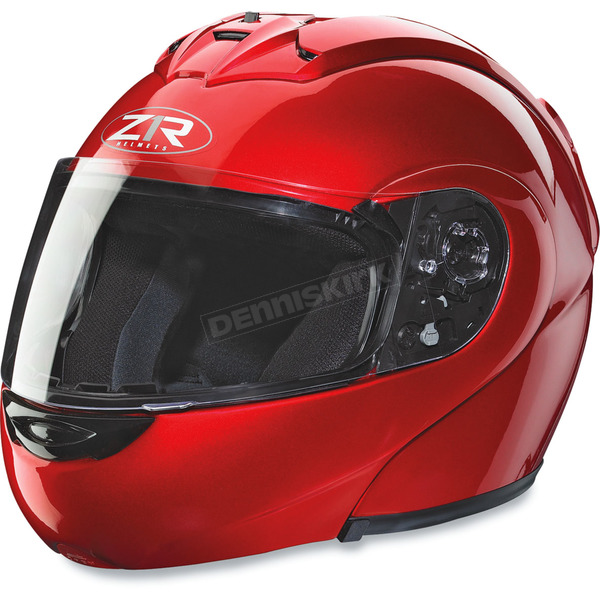 Z1R Eclipse Candy Red Helmet - ECLIPSE