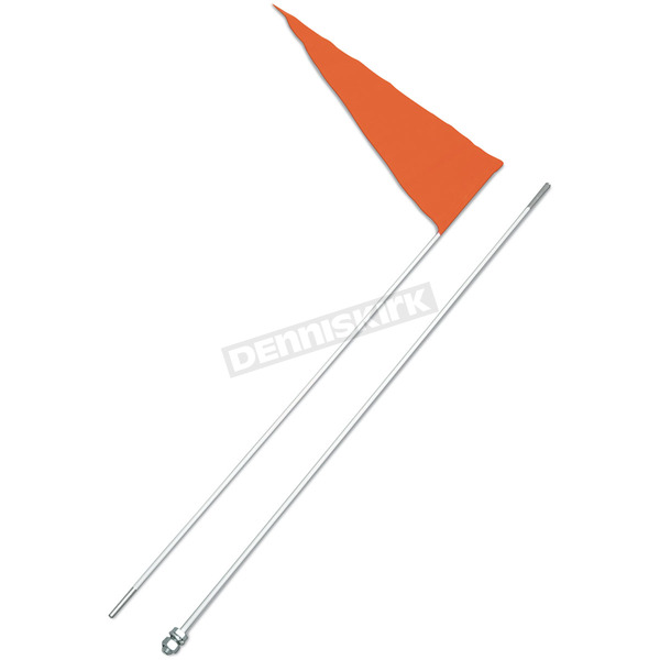 Safety Vehicle Emblem Safety Flag with 6 Foot White Pole (2-pc) - 7WHITE
