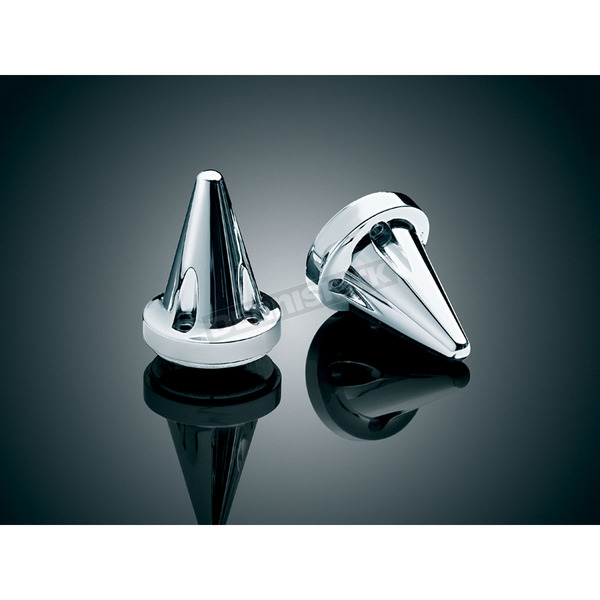 Kuryakyn Chrome Stiletto End Caps for ISO-Grips - 6249