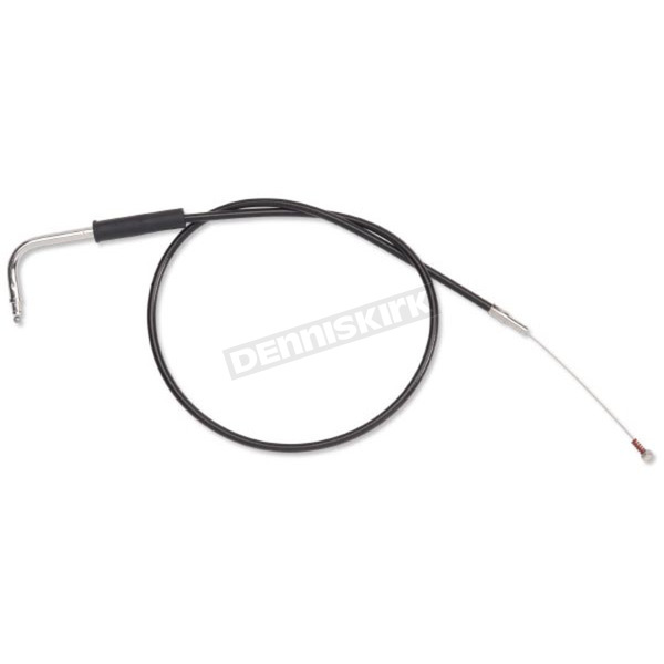 Drag Specialties Black Vinyl Throttle Cable w/45 Degree Elbow - 0650-0602