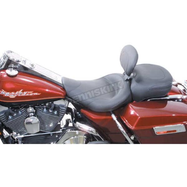 Mustang Seats 16 in. Wide Vintage Solo Seat w/Removable Backrest - 79100
