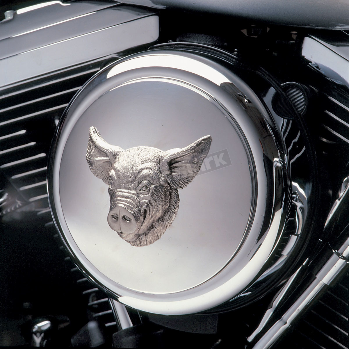 Custom Motorcycle Air Filter Covers : Mothers custom cycle chrome hog air cleaner insert chaf