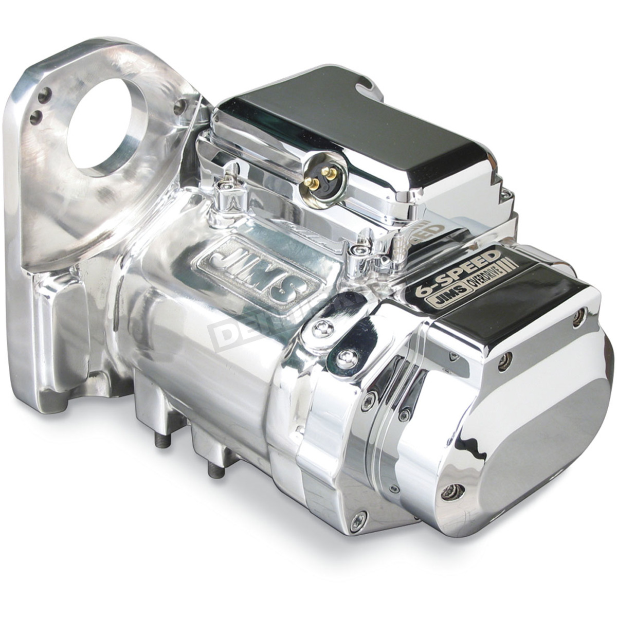 Polished Aluminum Finish 6-Speed Overdrive Transmission with Clean-Cut  Gears - 8004C6