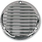 3 Hole Finned Chrome Billet Derby Cover - 06-98FN
