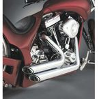 Chrome Shortshots Staggered Exhaust System - 17221