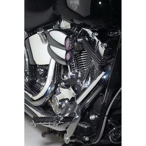 Cycle Visions Mo-Flow Chrome Billet Air Cleaner for Models w/CV Carb, Delphi Fuel-Injected or Mikuni Carbs - CV-9003
