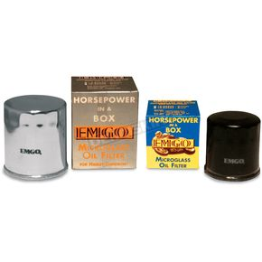 Emgo Micro-Tech Chrome Oil Filter - 10-82440