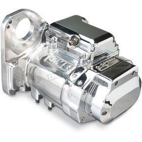 JIMS Polished Aluminum Finish 6-Speed Overdrive Transmission with Clean-Cut Gears - 8004C6