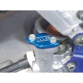 Works Connection Blue Billet Brake Cover - 21-700