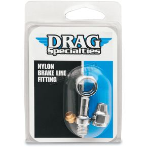 Drag Specialties 7/16 in. Staight Banjo Fitting - 1742-0107