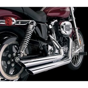 Hooker Headers Mid-Length 2 1/2 in. Rebel Chrome Drag Pipe Staggered Slash-Cut for 96+ inch Engines -