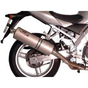 Scorpion Round Slip-on Muffler with Polished Stainless Steel Muffler Sleeve  - EHY51SSR