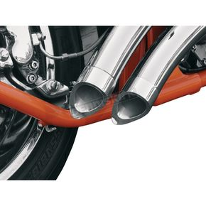 LA Choppers 2.15 in. O.D. Short Dished Exhaust Tips for 2.25 in. Pipe w/.049 Wall Thickness - LA-1092-00
