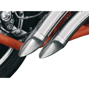 LA Choppers 2.15 in. O.D. Long Dished Exhaust Tip for 2.25 in. Pipe w/.049 Wall Thickness - LA-1092-02