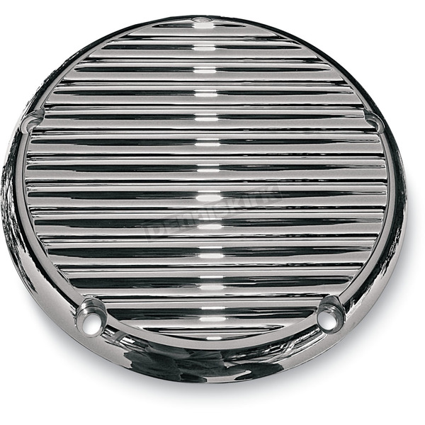 Joker Machine 5 Hole Finned Chrome Billet Derby Cover - 06-99FN