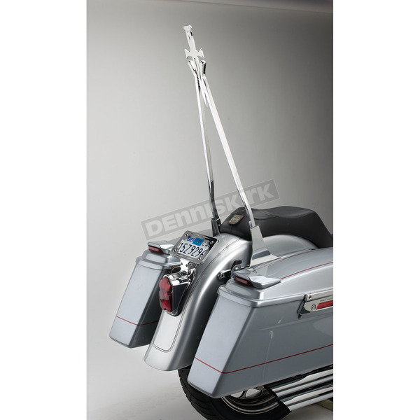 Cycle Visions Chrome 30 in. Daggertude Narrow Sissy Bar Stick - CV-8011
