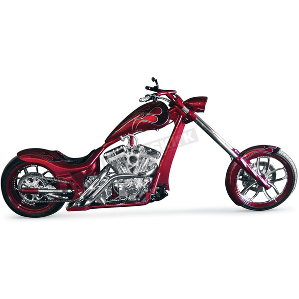 LA Choppers Gangsta Style 187R Exhaust System w/Slash Cut Tips for Right Side Drive - LA-1187-02