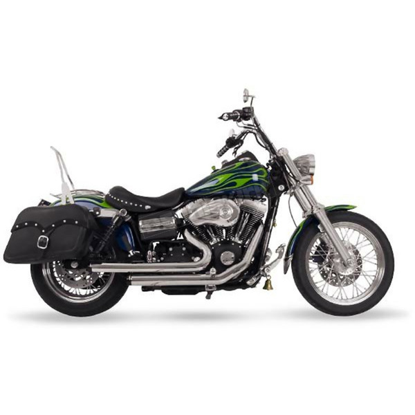 Bub Staggered Exhaust System Harley Davidson Motorcycle