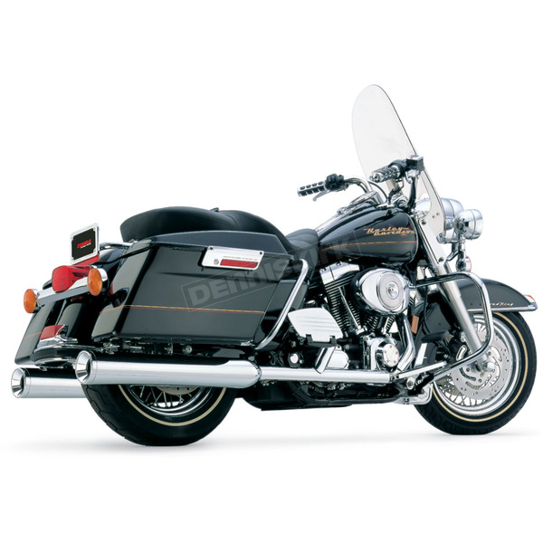 Cobra 4 in. Straight Cut Slip-On Mufflers with Billet Tip - 6202