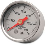 1 1/2 in. Silver Face Pressure Gauge-psi 0-60 - 2179