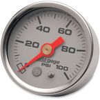 1 1/2 in. Silver Face Pressure Gauge-psi 0-100 - 2180