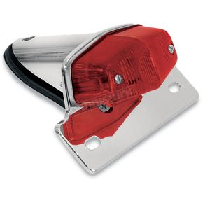 Emgo Lucas-Style Taillight w/Chrome Bracket - 62-21521