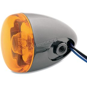 Chris Products Black Nickel Turn Signal w/Amber Lens - 8887A-BN