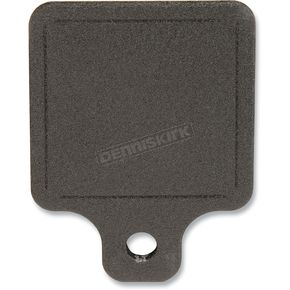 Novello Center Mount Black Ball Milled Inspection Tag Plate - NIL-INS6B