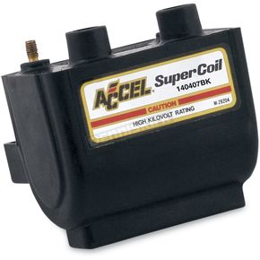Accel Black HEI Super Coil Kit for H-D 80-03 w/Electronic Ignition - 140407BK
