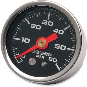 Pro-Cycle 1 1/2 in. Black Face Pressure Gauge-psi 0-60 - 2173