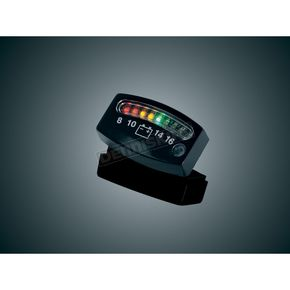 Kuryakyn L.E.D. Battery Gauge - Black - 4218