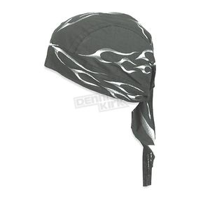Zan Headgear Black Tank Flame Flydanna Headwrap - Z353