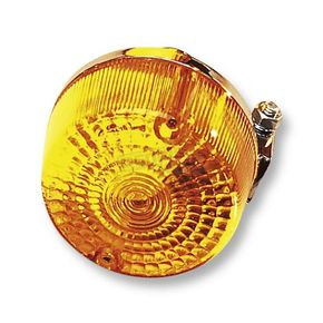 K & S Front Left/Right Turn Signal Assembly W/Amber Lens - 25-1055