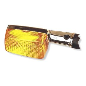 K & S Front Left/Right Turn Signal Assembly W/Amber Lens - 25-1095
