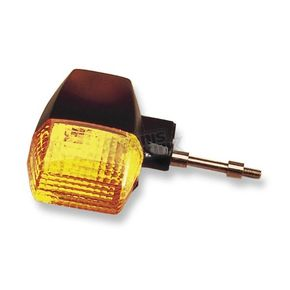 K & S Front Left/Rear Turn Signal Assembly W/Amber Lens - 25-2045