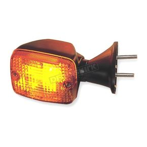 K & S Front Left/Right Turn Signal Assembly W/Amber Lens - 25-2075