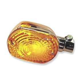 K & S Front Left/Right Turn Signal Assembly W/Amber Lens - 25-2165