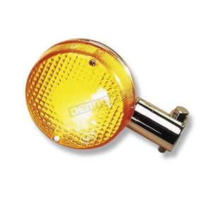 K & S Front Left/Right Turn Signal Assembly W/Amber Lens - 25-4095