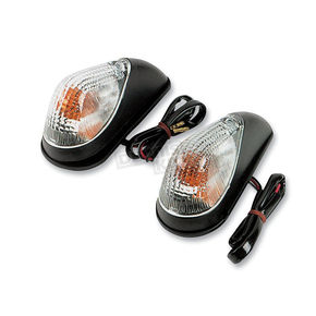 K & S Dual Filament Mini Wing Marker Lights w/Clear Lens - 25-8100