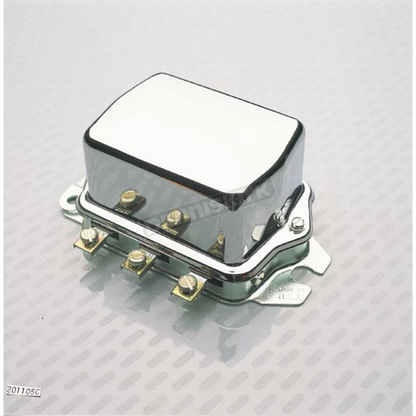 OEM Type 12V Chrome Voltage Regulator - 201105C